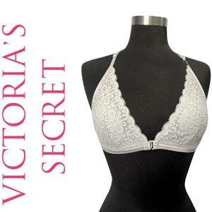 Victoria's Secret Grey Lace Front Closure Bralette